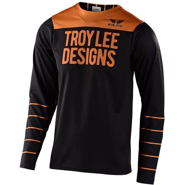 Troy Lee Designs Skyline Langarm Trikot pinstripe black/gold