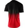Troy Lee Designs Skyline Kurzarm Trikot stain'd black/red
