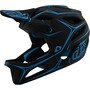 Troy Lee Designs Stage MIPS Helm pinstripe black/cyan