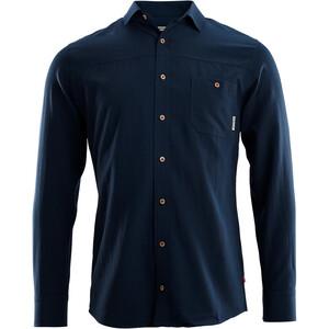 Aclima Woven Wool Shirt Men navy blazer navy blazer