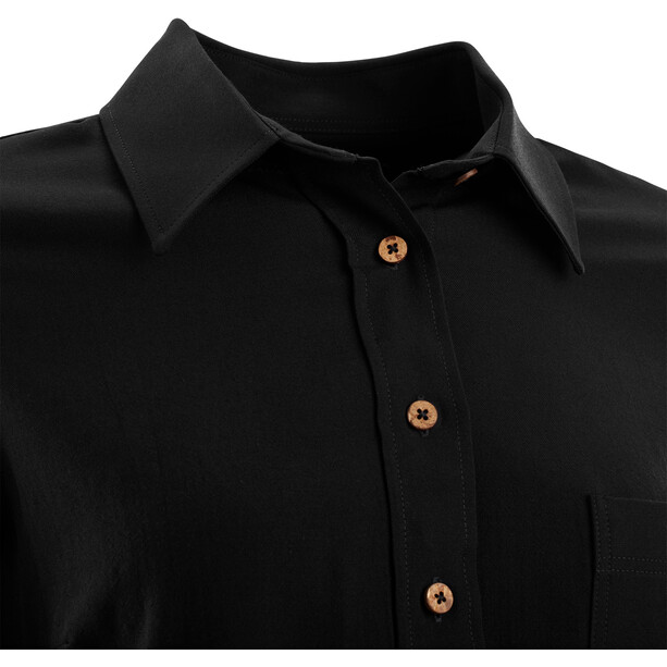 Aclima Woven Wool Shirt Women jet black