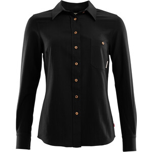 Aclima Woven Wool Shirt Women jet black jet black