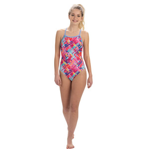 Dolfin Print V-2 Back One Piece Badeanzug Damen basket case basket case