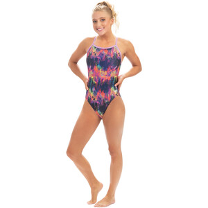 Dolfin Print V-2 Back One Piece Badeanzug Damen city lights city lights