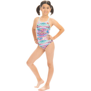Dolfin Print Keyhole One Piece Badeanzug Mädchen cotton candy cotton candy