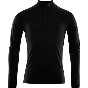 Aclima LightWool Zip Shirt Herren jet black jet black