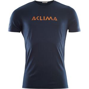 Aclima LightWool Logo Camiseta Hombre, azul azul