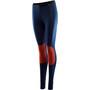 Aclima LightWool Reinforced Lange Unterhose Damen blau/rot