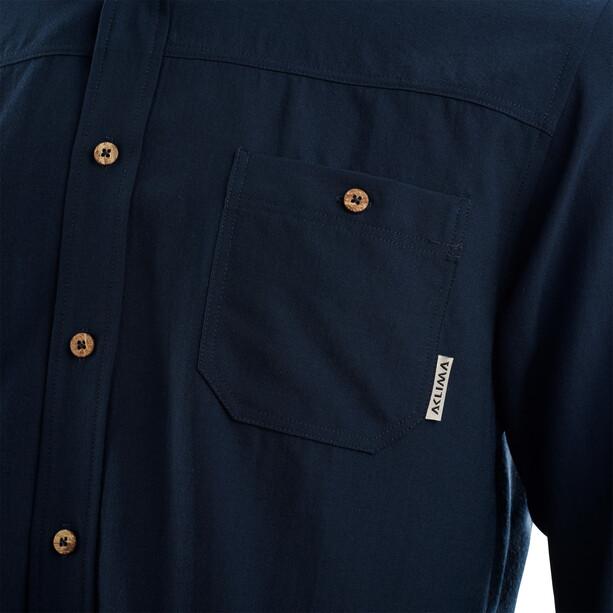 Aclima Woven Wool Shirt Herren navy blazer