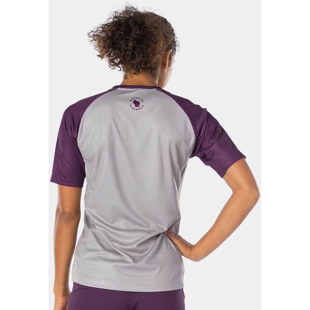 Bontrager Rhythm Tech T-Shirt Damen gravel/mulberry