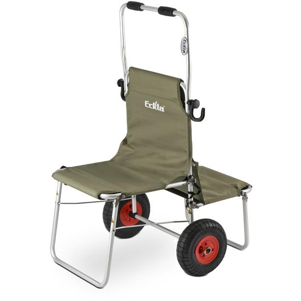 Eckla Multi-Rolly mit Lufträdern 260mm olivegreen
