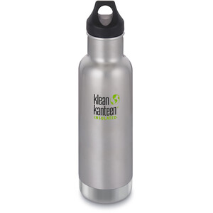 Klean Kanteen Classic Vacuum Insulated Bottle Loop Cap 592ml brushed stainless brushed stainless