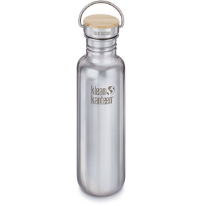 Klean Kanteen Reflect Bottle Bamboo Cap 800ml silver silver