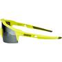100% Speedcraft Brille Small soft tact banana/black mirror