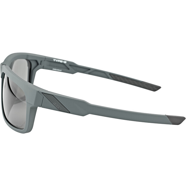 100% Type S Lunettes, soft tact slate/peakpolar