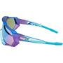 100% Speedtrap Brille matte metallic into the fade/blue mirror