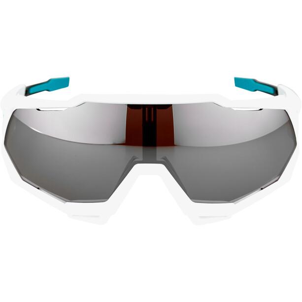 100% Speedtrap Bora Hansgrohe Special Edition Glasses team white/hiper silver mirror