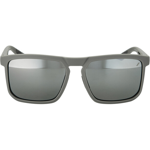 100% Renshaw Lunettes, soft tact cool grey/black mirror