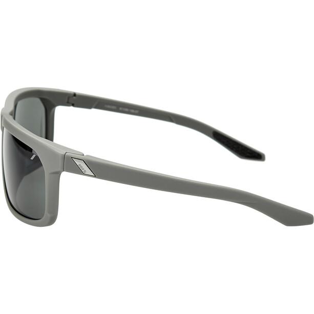 100% Hakan Brille soft tact cool grey/smoke