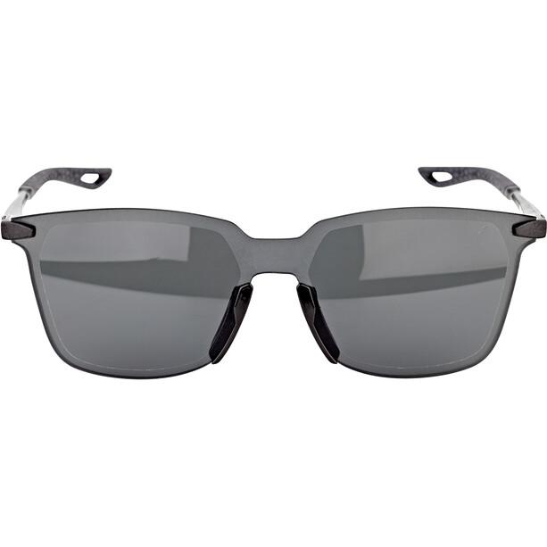 100% Legere UltraCarbon Square Lunettes, polished black/smoke