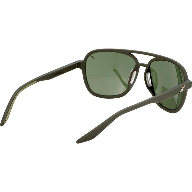 100% Kasia Aviator Round Glas, sort/grå