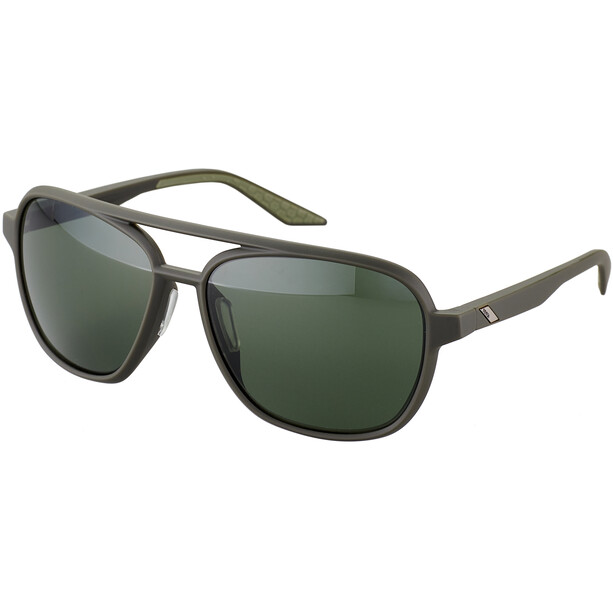 100% Kasia Aviator Round Brille soft tact army green/smoke