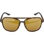 100% Kasia Aviator Round Glasses soft tact havana/peakpolar