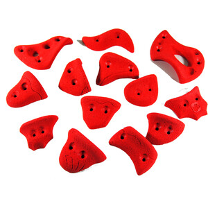 Ergoholds Sport Klettergriffe 13 Griffe rot rot