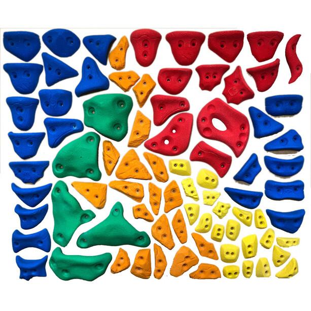 Ergoholds Home Gym Kit Mix Klettergriffe 60+20 Griffe bunt