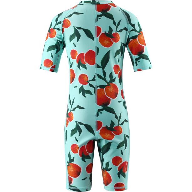 Reima Galapagos Swim Overall Kids, turkoosi/oranssi