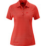 Maier Sports Pandy Polo Femme, red allover
