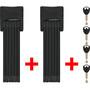 ABUS Bordo 6000/90 SH Twinset Faltschloss black