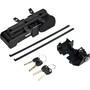 ABUS Bordo 6405/85 SH Antivol pliable + Cylindre de Fermeture pour Batterie sur Porte-Bagages Bosch Plus, noir