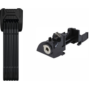 ABUS Bordo 6405/85 SH Faltschloss + Schlosszylinder für Bosch Plus Gepäckträgerakku black black