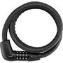 ABUS Tresor 6615C/120/15 SCLL Spiralkabelschloss black