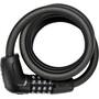 ABUS Tresor 6512C/180 SCLL Spiralkabelschloss black