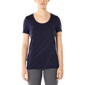 Icebreaker Tech Lite Scoop Pinnacle Kurzarmshirt Damen midnight navy midnight navy