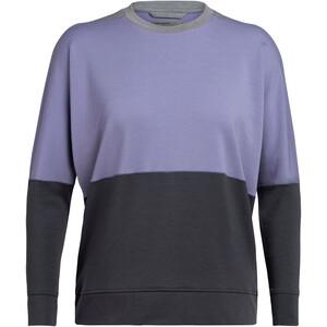Icebreaker Momentum T-shirt manches longues à Col ras-du-cou Femme, gris/violet gris/violet