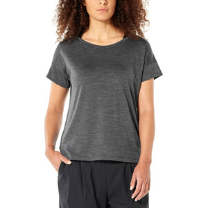 Icebreaker Via Scoop T-Shirt Damen monsoon heather monsoon heather