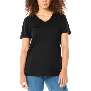 Icebreaker Ravyn V-Ausschnitt Kurzarm T-Shirt Damen black black