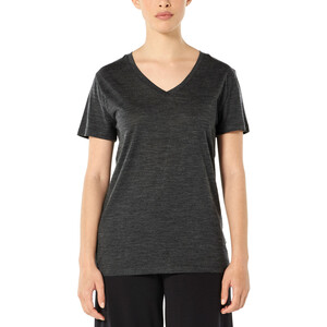 Icebreaker Ravyn V-Ausschnitt Kurzarm T-Shirt Damen jet heather jet heather