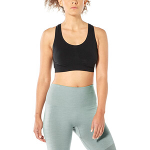 Icebreaker Anatomica Seamless Sports-bh Damer, sort sort