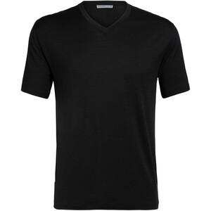 Icebreaker Ravyn Kurzarm V-Ausschnitt T-Shirt Herren black black