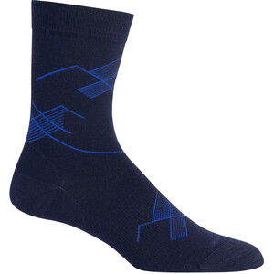 Icebreaker Lifestyle Fine Gauge Snap Head Crew-Cut Socken midnight navy midnight navy