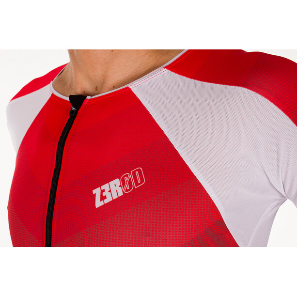 Z3R0D Racer Time Trial Trisuit Men grey/red
