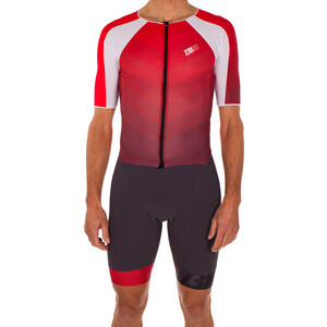 Z3R0D Racer Time Trial Trisuit Herren grey/red grey/red