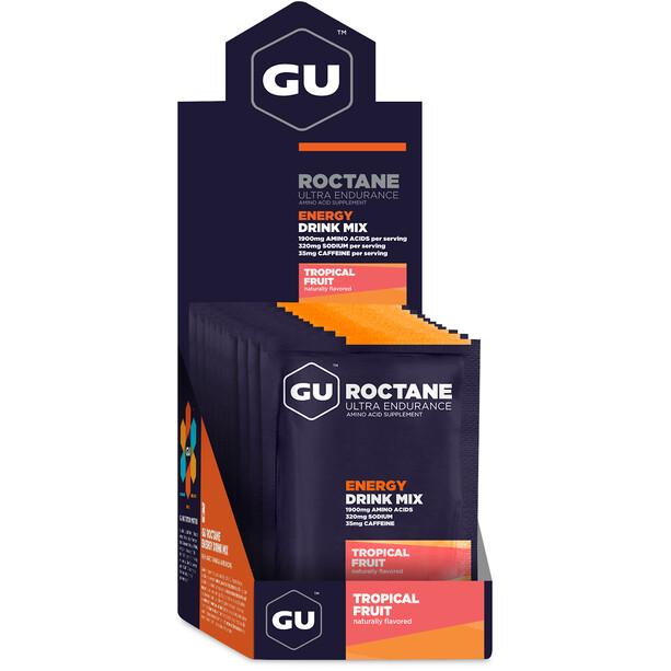 GU Energy Roctane Ultra Endurance Energy Drink Mix Box 10 x 65g, Tropical Fruit