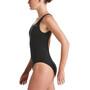 Nike Swim Essential Scoop Neck One Piece Swimsuit Women, musta