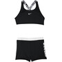 Nike Swim JDI Crossback Sport Bikini Set Damen black