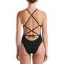 Nike Swim Hydrastrong Solids Lace Up Tie Back Badedrakt Dame Svart